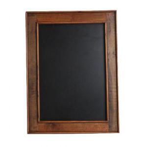 Tabla de scris neagra/maro din lemn reciclat 60x80 cm Vinili Raw Materials