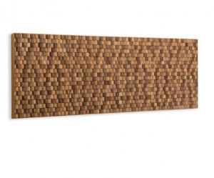 Tablie pat maro din lemn de tec 164 cm Koko Wall  La Forma