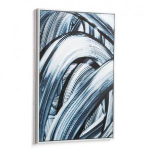 Tablou alb/albastru din lemn 60x90 cm Hypnotist La Forma