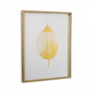 Tablou alb/galben din canvas 45x60 cm Autumn Leaf Versa Home