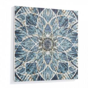 Tablou albastru pictat pe panza 80x80 cm Selena La Forma