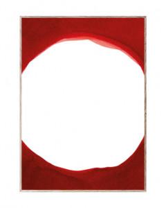 Tablou cu rama din lemn de stejar Red III Paper Collective