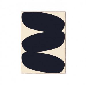 Tablou cu rama din lemn de stejar Solid Shapes Paper Collective