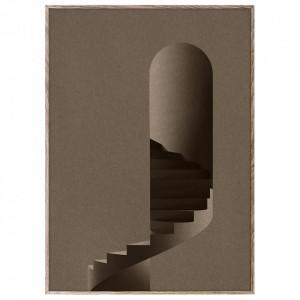 Tablou cu rama din lemn de stejar The Tower Paper Collective
