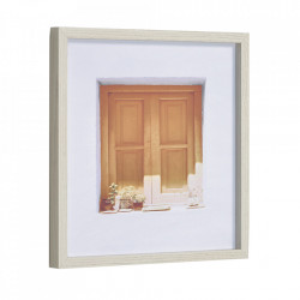 Tablou maro/alb din hartie si MDF 40x40 cm Leyla Kave Home
