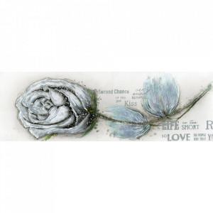 Tablou multicolor din canvas si lemn 50x130 cm Rose Ter Halle
