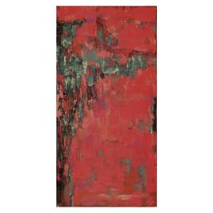 Tablou multicolor din canvas si lemn 70x140 cm Clover Ter Halle
