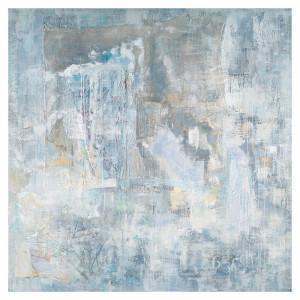 Tablou multicolor din canvas si lemn 80x80 cm Rhoda Ter Halle