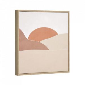 Tablou multicolor din canvas si MDF 40x40 cm Izem Kave Home