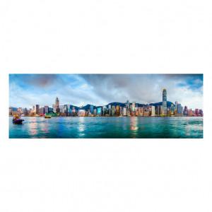 Tablou multicolor din sticla 80x120 cm Hong Kong Signal Meble