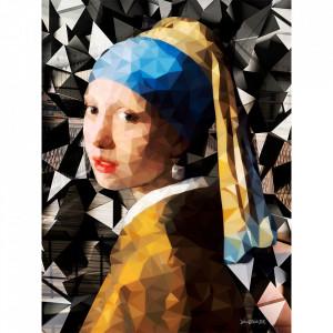 Tablou multicolor din sticla 80x120 cm Tanna Ter Halle