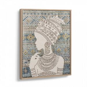Tablou multicolor printat din panza 42x52 cm Danielle La Forma