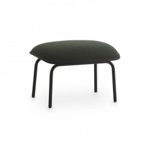 Taburet pentru picioare dreptunghiular negru/verde din textil si otel 45x60 cm Pad Normann Copenhagen