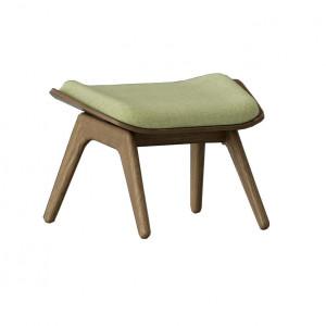 Taburet pentru picioare dreptunghiular verde/maro inchis din poliester si lemn 46x60 cm The Reader Umage