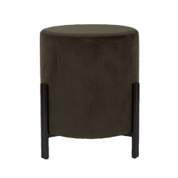 Taburet rotund verde din poliester si placaj 40 cm Easton LifeStyle Home Collection