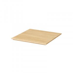Tava patrata maro din lemn pentru ghiveci 26x26 cm Lara Ferm Living