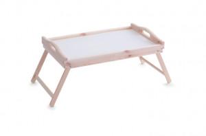 Tava pliabila maro/alba din lemn 30x50 cm pentru mic dejun Pine Bed Tray Zeller