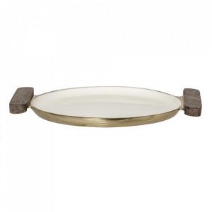 Tava rotunda maro din aluminiu si lemn 20 cm Nature Bloomingville