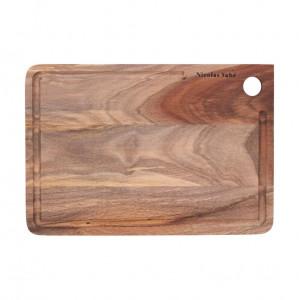 Tocator dreptunghiular maro din lemn 22x32 cm Irene Nicolas Vahe