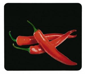 Tocator dreptunghiular multicolor din sticla 50x56 Universal Hot Pepperoni Single Wenko