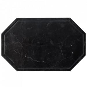 Tocator octagonal negru din marmura 25x40 cm Wonder Bolia