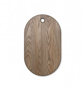 Tocator oval maro din lemn 27x44 cm Stage Ferm Living