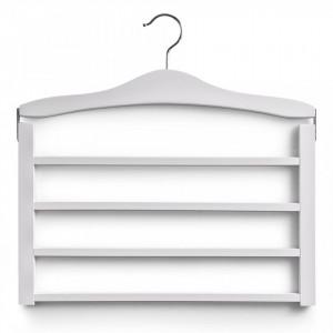 Umeras multiplu alb din lemn Trouser Hanger Zeller