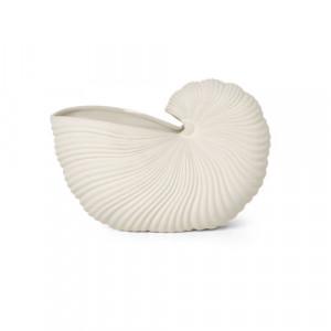 Vaza alb antic din ceramica 20 cm Shell Ferm Living