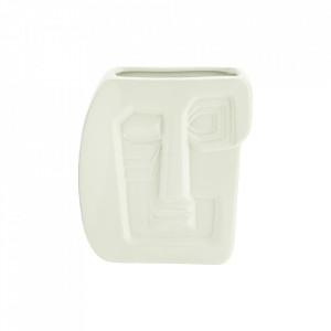 Vaza alba din ceramica 16 cm Face Madam Stoltz