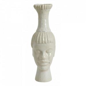 Vaza alba din ceramica 37,5 cm Kimito Nordal