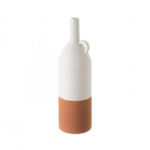 Vaza alba/maro teracota din ceramica 36 cm Elfreda Unimasa