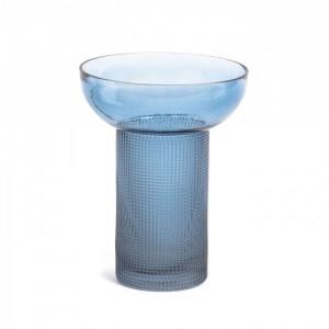 Vaza albastra din sticla 16,5 cm Bahie Small La Forma