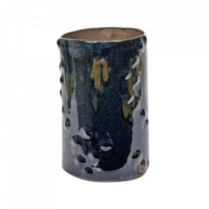 Vaza albastru inchis din ceramica 26 cm Terres de Reves Serax