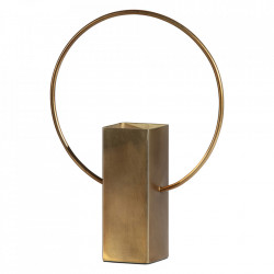 Vaza aurie din fier 25 cm Ring Be Pure Home