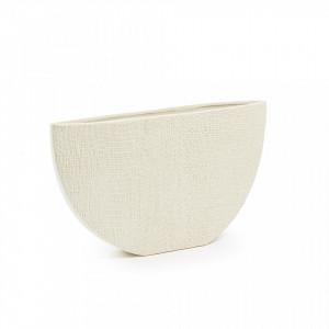 Vaza crem din ceramica 35x20 cm Cracco La Forma