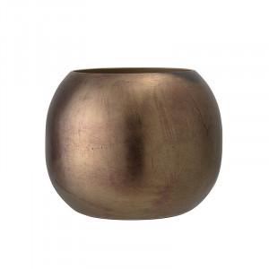 Vaza decorativa maro din aluminiu 15,5 cm Gustav Bloomingville