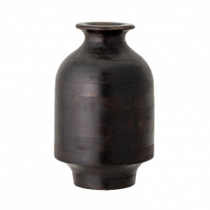 Vaza decorativa maro inchis din lemn 29 cm Owens Creative Collection