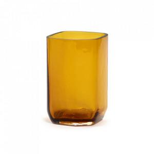 Vaza galbena din sticla 21 cm Silex Serax