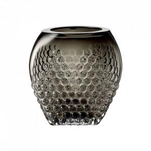 Vaza gri fum din sticla 20 cm Bramble Bolia