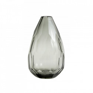 Vaza gri fum din sticla 22 cm Lion Nordal