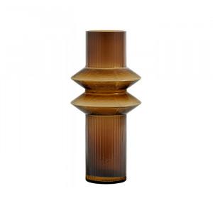 Vaza maro chihlimbar din sticla 32 cm Rilla Ale Nordal