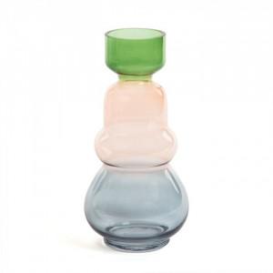 Vaza multicolora din sticla 30 cm Astera La Forma