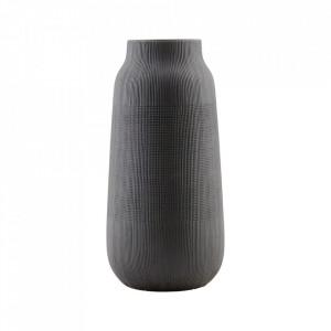 Vaza neagra din ceramica 35 cm Groove House Doctor