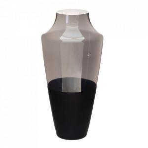 Vaza neagra/gri din sticla 38 cm Vandy Ixia