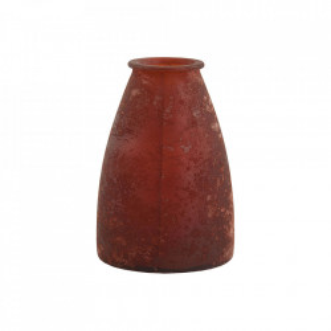 Vaza rosie din sticla 33 cm Adolf Vical Home