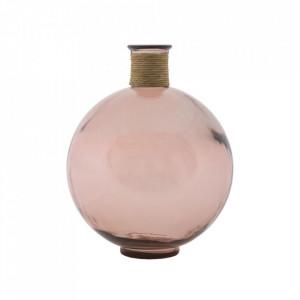 Vaza roz din sticla 44 cm Treviso Mauro Ferretti