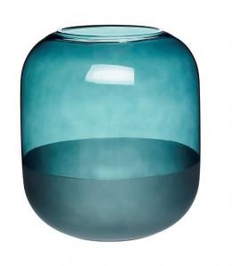 Vaza verde din sticla 21 cm Nelly Hubsch