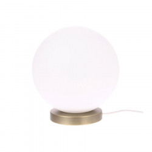 Veioza alba din sticla si metal 30 cm Glass Ball L HK Living