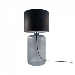 Veioza neagra din textil si sticla 60 cm Amarsa Zuma Line