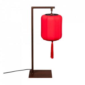 Veioza rosie/neagra din fier si textil 60 cm Suoni Dutchbone
